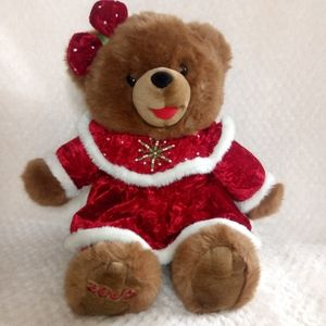 2005 CHRISTMAS Snowflake TEDDY BEAR Brown Girl